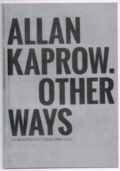 ALLAN KAPROW COVER